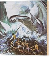 Moby Dick Wood Print