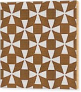 Mocha Twirl Wood Print by Linda Woods