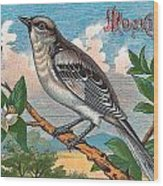 Mocking Bird Wood Print