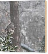 Mockingbird Back Wood Print