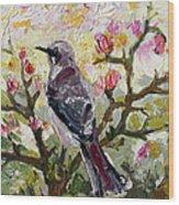 Mockingbird By My Window Wood Print
