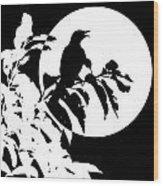 Mockingbird Moon Wood Print