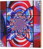 Mod 163 - Freedom Abstract Wood Print