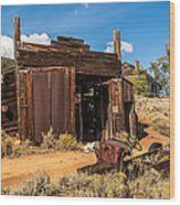 Model A Truck With Garage And House Wood Print