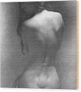 Model Against The Dark Background 2002 Wood Print