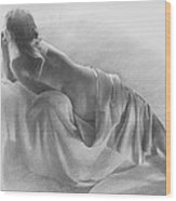 Model In Drapery 2003  Wood Print