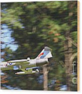 Model Jet Wood Print