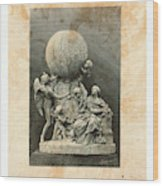 Model Of A Statue Dedicated To French Balloonists Wood Print