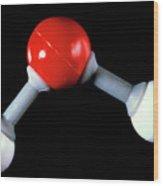 Model Of Water Molecule Wood Print
