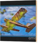 Model Plane 2 Wood Print