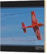 Model Plane 6 Wood Print