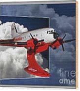 Model Planes Dc3 01 Wood Print