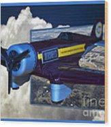 Model Planes Hershey 01 Wood Print