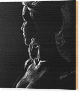 Model Portrait Wood Print
