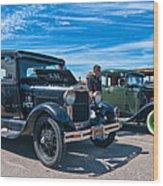 Model T Fords Wood Print by Steve Harrington