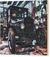 Model T In Hdr Wood Print