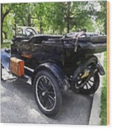 Model T With Luggage Rack Wood Print