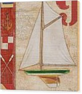 Model Yacht Collage I Wood Print by Paul Brent