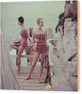 Models Wearing Bathing Suits In Palermo Wood Print