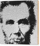 Modern Abe - Abraham Lincoln Art By Sharon Cummings Wood Print