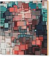 Modern Abstract Ix Wood Print