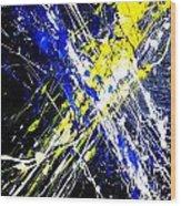 Modern Abstract Painting Original Canvas Art Atoms By Zee Clark Wood Print