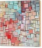 Modern Abstract X Wood Print