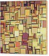 Modern Abstract Xxi Wood Print