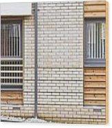 Modern Apartment Windows Wood Print