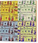 Modern Art Money Wood Print