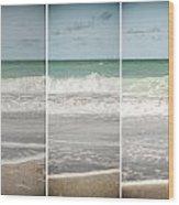 Modern Beach Tryptych Wood Print