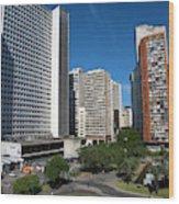 Modern Buildings In Central Rio De Wood Print