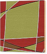 Modern Curve Oil Wood Print