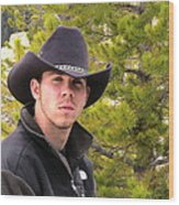 Modern Day Cowboy Wood Print