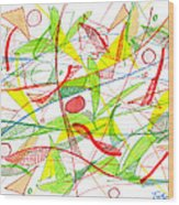 Modern Drawing Seventy-three Wood Print