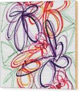 Modern Drawing Sixty-six Wood Print