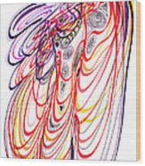 Modern Drawing Sixty-three Wood Print