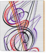 Modern Drawing Sixty-two Wood Print