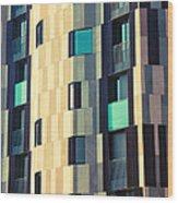 Modern Facade Wood Print