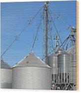 Modern Farm Storage And Towers Wood Print