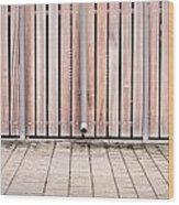 Modern Fence Wood Print