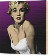 Modern Marilyn Wood Print