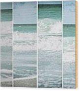 Modern Ocean Quad  Wood Print