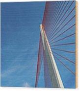 Modern Suspension Bridge Wood Print