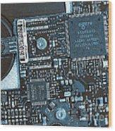 Modern Technology Wood Print by Jutta Maria Pusl