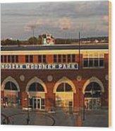 Modern Woodmen Stadium Wood Print