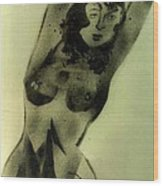 Modest Pose Wood Print