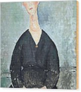 Modigliani's Cafe Singer Wood Print
