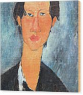 Modigliani's Chaim Soutine Up Close Wood Print