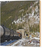 Moffat Tunnel East Portal At The Continental Divide In Colorado Wood Print